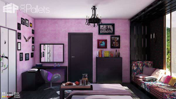 Colorful Pallet Reading Area / Bedroom Pallet Home Accessories