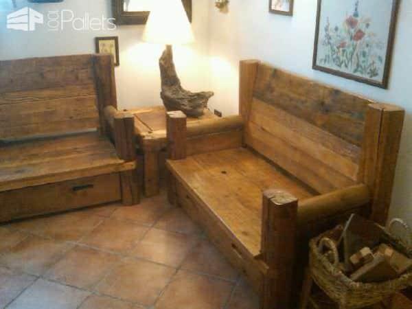 Divani 100/100 Riciclaggio / Pallets & Wood Sofa Pallet Sofas & Couches