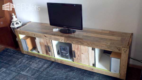 Ikea Hacking With Pallets: Expedit Pallet TV Stands & Racks