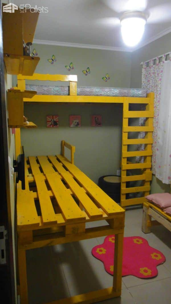 My Daughter's Room Done With Pallets & Scrap Wood Fun Pallet Crafts for Kids