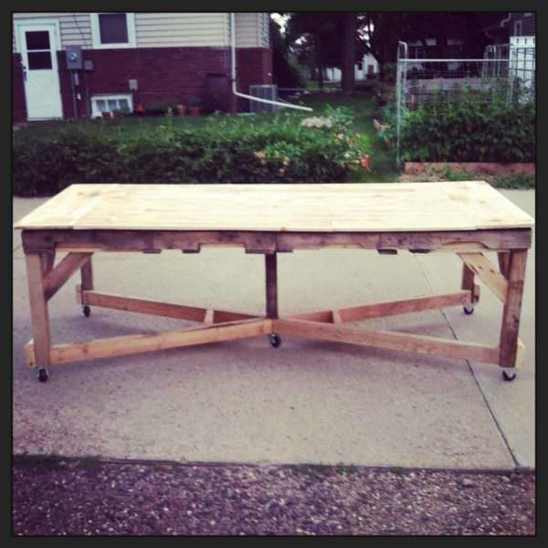 Pallet Harvest Table Pallet Desks & Pallet Tables