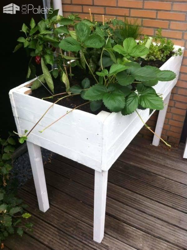 Pallet Herbs Table Planter Pallet Planters & Compost Bins