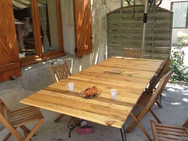Pallet Table For 12 People Pallet Desks & Pallet Tables