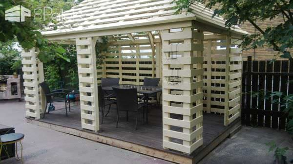 Pavilion Made From Recycled Pallets Pallet Sheds, Cabins, Huts & Playhouses