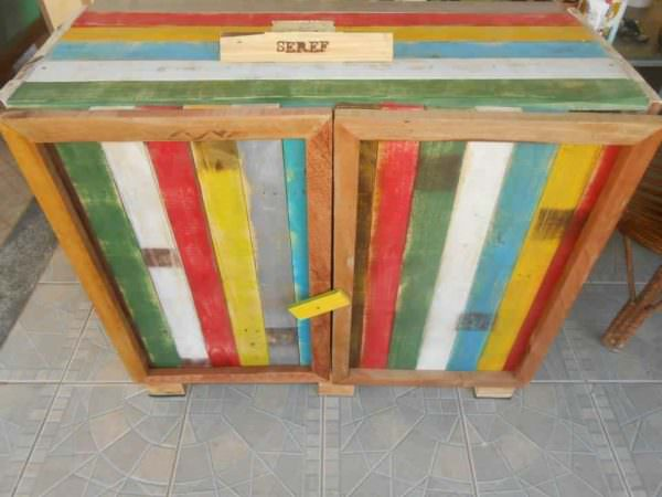 Kitchen Cabinet From Old Pallets Pallet Cabinets & Wardrobes