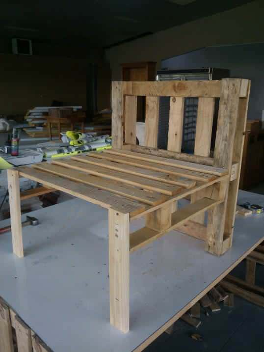 Pallet Armchair Pallet Benches, Pallet Chairs & Stools