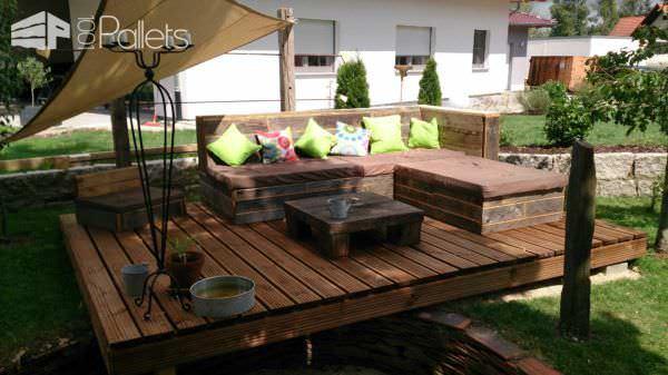 Pallet Deck & Lounge Area Lounges & Garden Sets
