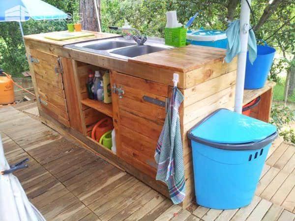 Pallet Outdoor Kitchen Pallet Desks & Pallet Tables