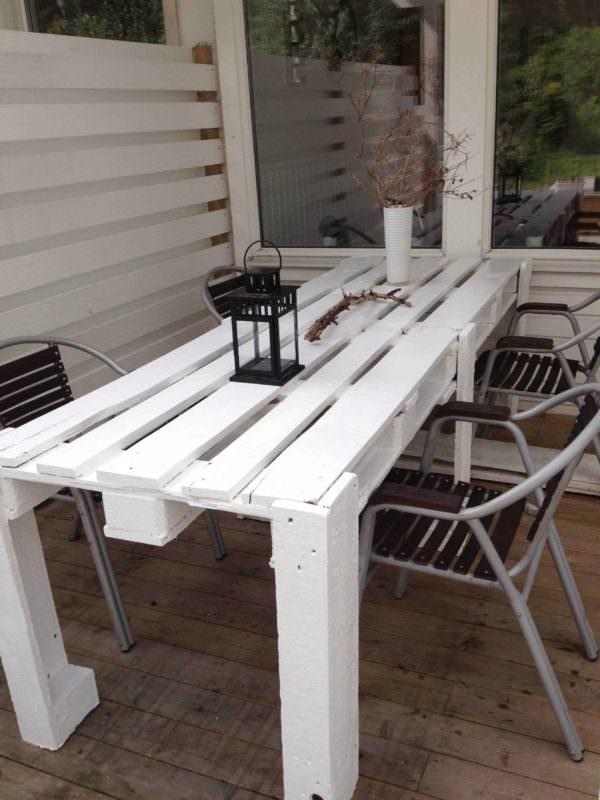Pallet Porch Table Pallet Desks & Pallet Tables