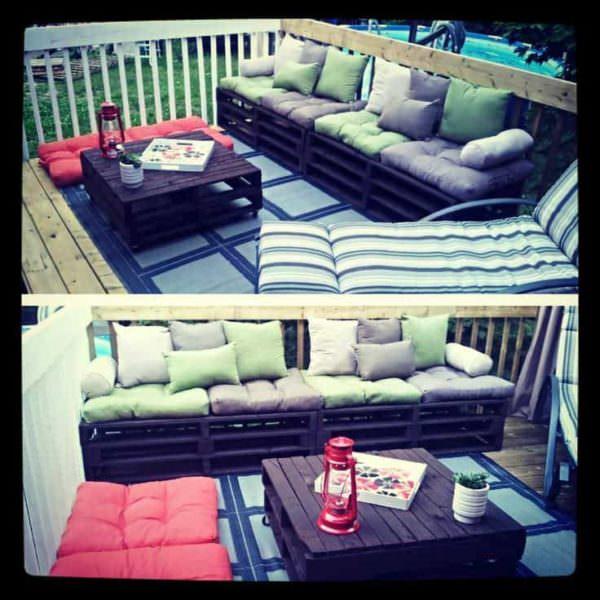 Pallets Couch / Divan En Palettes Pallet Sofas & Couches