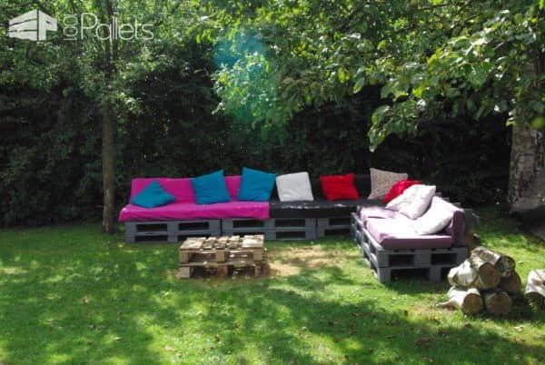 Salon De Jardin – Une Invitation à La Paresse / Pallet Garden Set Lounges & Garden Sets