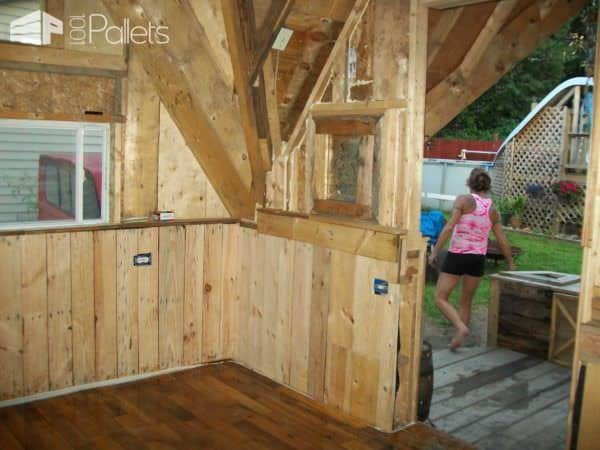 Skid Shack From Reclaimed Wood (Skid & Crates) Pallet Sheds, Cabins, Huts & Playhouses