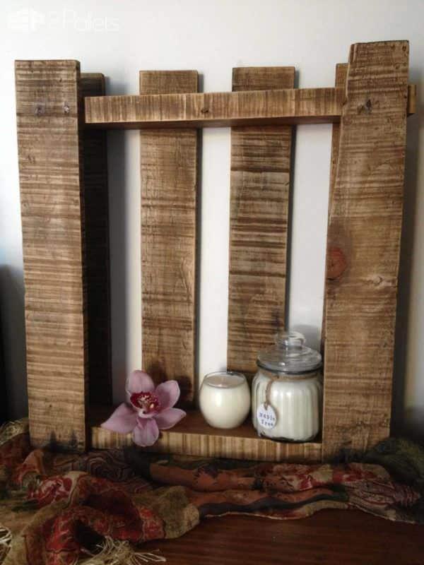 Beautiful Rustic Pallet Shelf Pallet Shelves & Pallet Coat Hangers