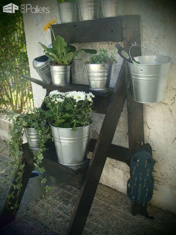Garden Pallet Ladder Pallet Planters & Compost Bins