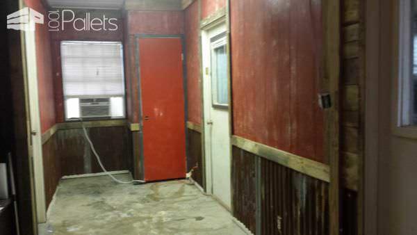 Man Cave Remodel Pallet Walls & Pallet Doors