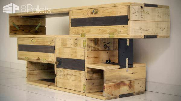 Meuble TV Design / Design TV Stand From Pallets Wood Pallet TV Stands & Racks