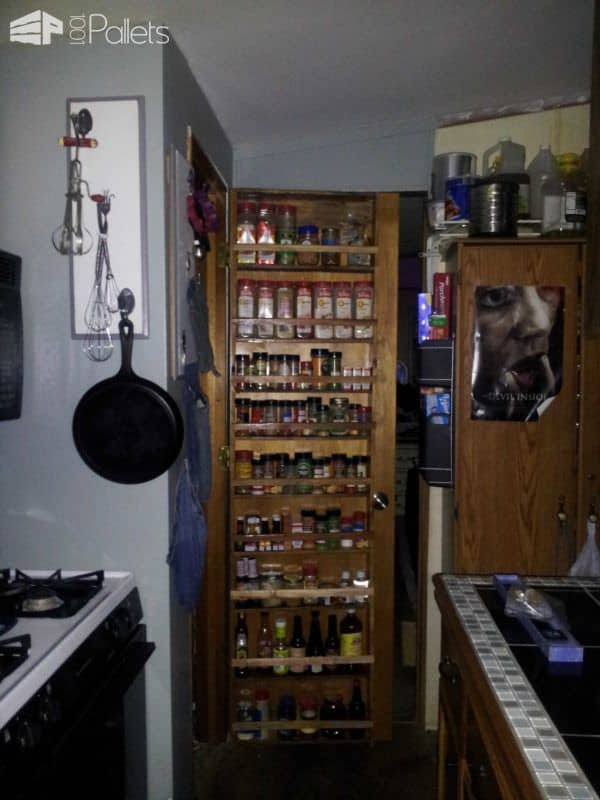 Pallet Spice Rack Pallet Shelves & Pallet Coat Hangers