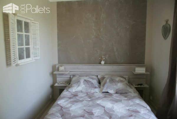 Pallets Bed Headboard / Tête De Lit En Palettes Pallet Beds, Pallet Headboards & Frames
