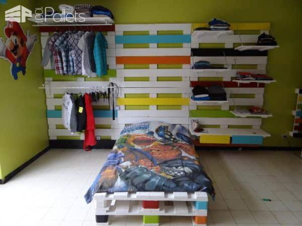 Chambre Enfant Complète En Palettes / Pallets Kids Room Fun Pallet Crafts for Kids