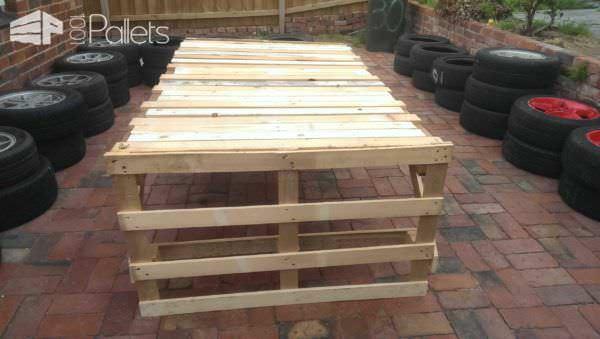 Cheap & Easy Pallet Table Pallet Desks & Pallet Tables