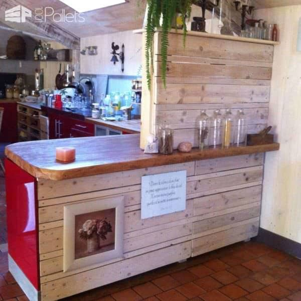Elément De Cuisine / Pallets Kitchen Element Pallet Bars