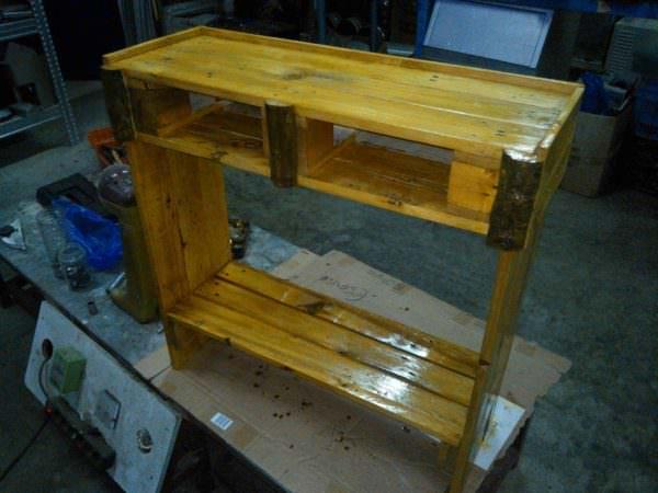 Entrance Furniture With 2 Drawers Pallet Desks & Pallet Tables