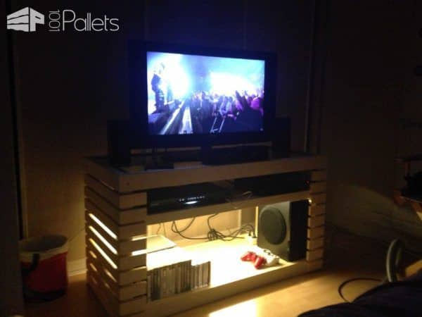Meuble Tv / Tv Stand Pallet TV Stands & Racks