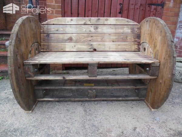 Pallet & Cable Drum Bench Pallet Benches, Pallet Chairs & Stools