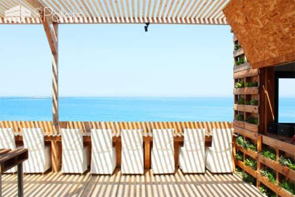 Caban Beach House: When Pallets Meets Design Pallet Store, Bar & Restaurant Decorations