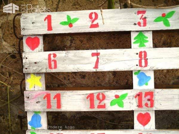 Christmas Advent Calendar Pallet Wall Decor & Pallet Painting