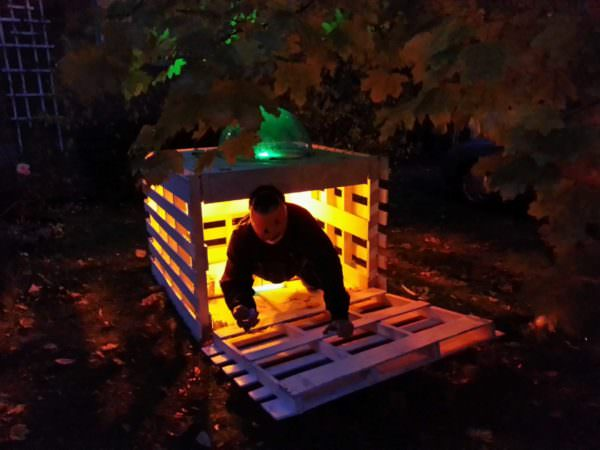 Halloween Pallet Pumpkin Fun Pallet Crafts for Kids