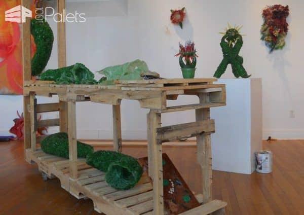 Meat Hooked Pallet Sculpture Pallet Furniture