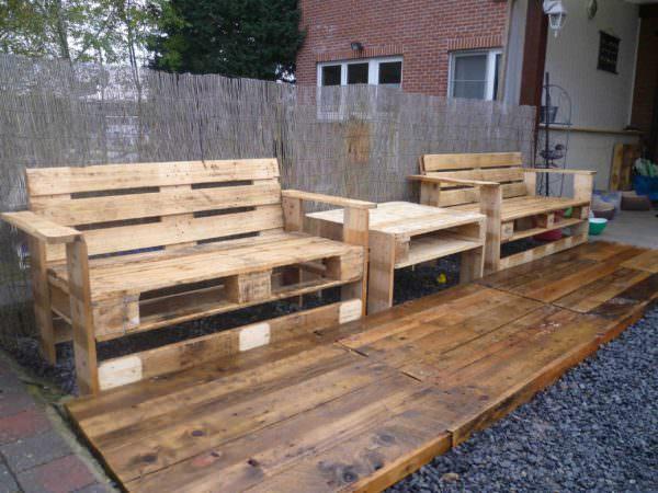 Mon Nouveau Set De Jardin / Pallets Garden Set Lounges & Garden Sets