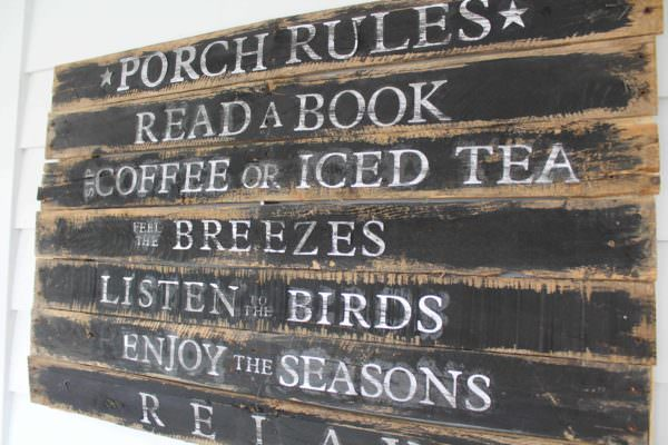 Porch Rules Pallet Sign Pallet Wall Decor & Pallet Painting