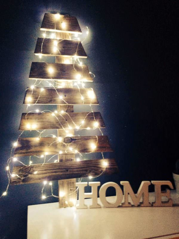 My Home Christmas Tree Made With Pallet Pallet Home Accessories