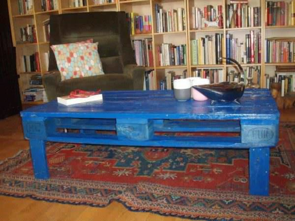Blue Coffee Table Pallet Coffee Tables