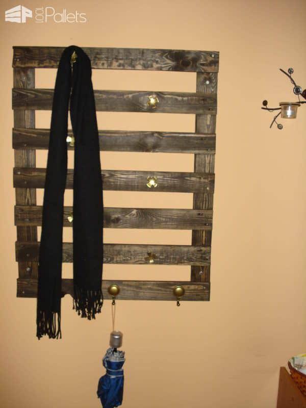 My First Coat Hanger Pallet Shelves & Pallet Coat Hangers