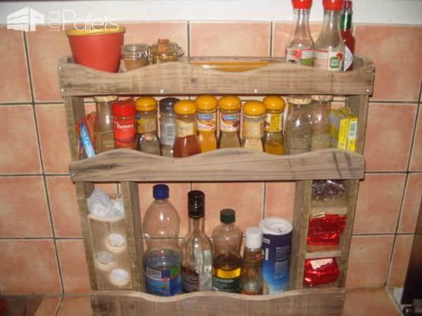 Pallet Spices Rack / Etagère À Épices Pallet Shelves & Pallet Coat Hangers
