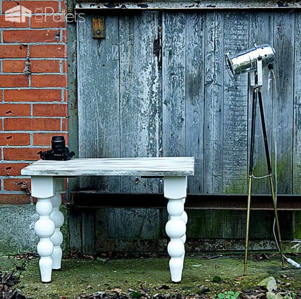 Shabby Chic Table Top From Recycled Pallet Wood Pallet Desks & Pallet Tables