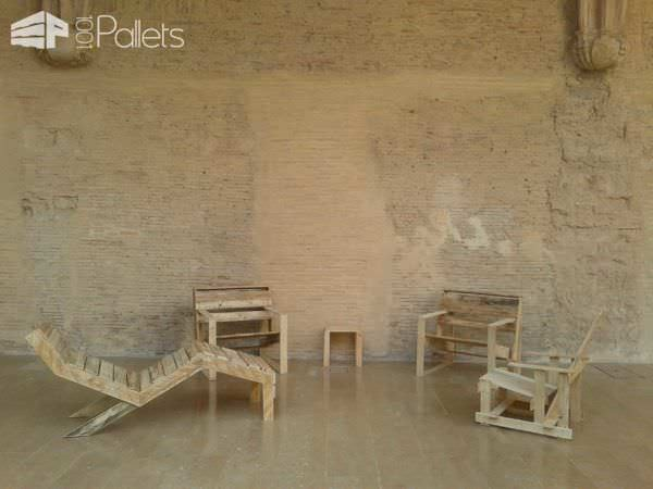 "The ""p"" Series – Pallet Classic Furnitures Pallet Benches, Pallet Chairs & Stools"