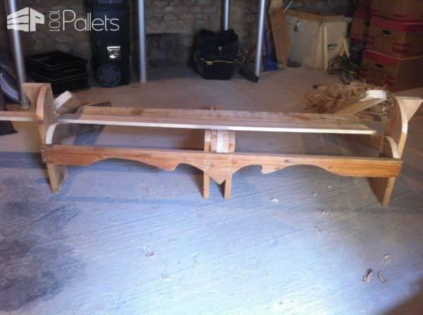 Banc En Bois De Palettes / Recycled Pallet Bench Pallet Benches, Pallet Chairs & Stools