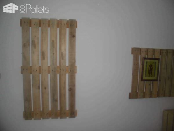 Coat Hanger And TV Holder From Upcycled Pallets Pallet Walls & Pallet Doors