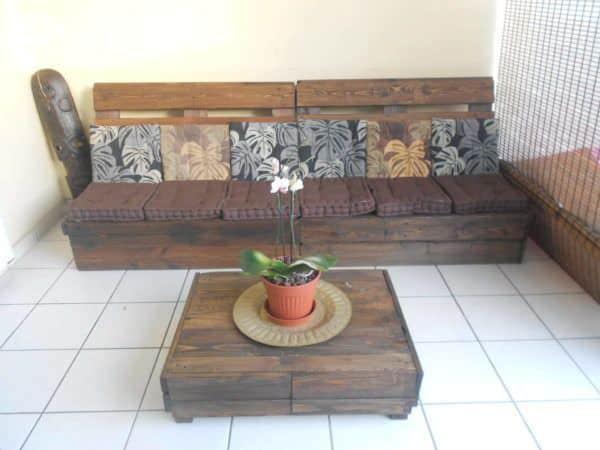 Make an Outdoor Pallet Lounge Lounges & Garden Sets