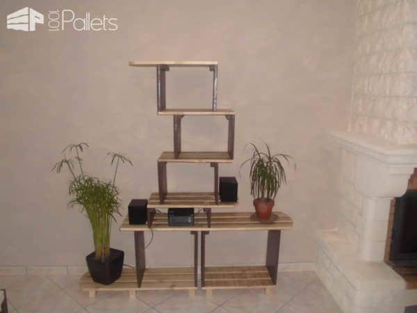 Meuble étagère / Pallet Shelves Pallet Shelves & Pallet Coat Hangers