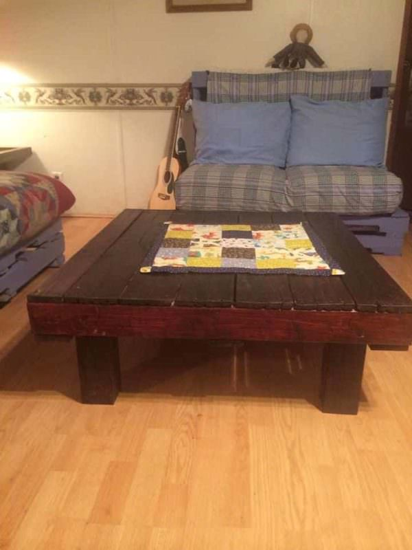 My Living Room Pallet Furnitures Pallet Coffee Tables