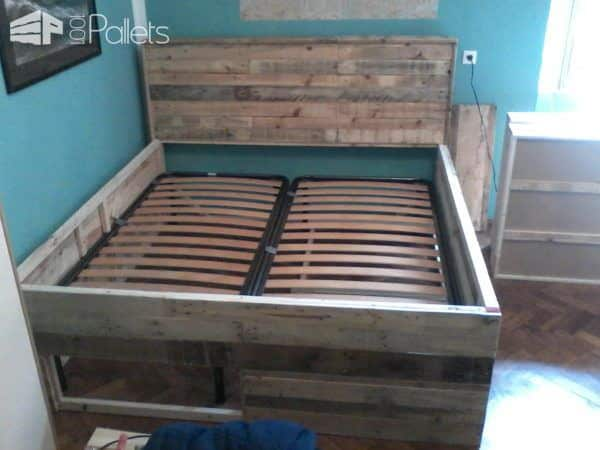 Pallet Bed with Drawers Pallet Beds, Pallet Headboards & Frames