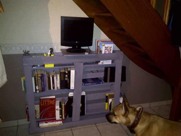 Pallet Bookshelf / Bibilotheque En Palette Pallet Bookcases & Bookshelves Pallet Shelves & Pallet Coat Hangers