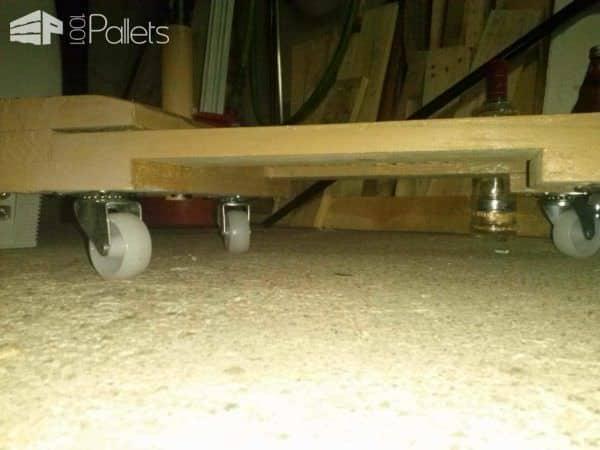 Pallet Extendable Table Pallet Desks & Pallet Tables