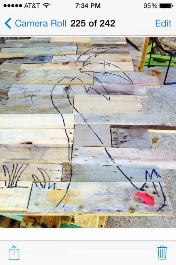 Pallet Palm Tree Pallet Home Accessories