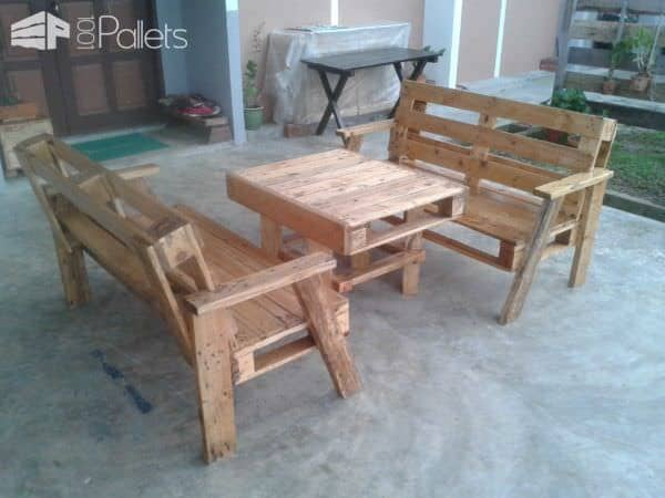 Pallet Wood Benches and Table Pallet Benches, Pallet Chairs & Stools Pallet Desks & Pallet Tables